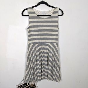 Delia's Striped Dress w Lace Back